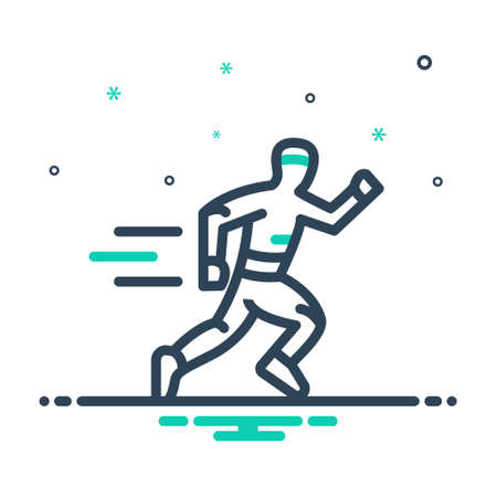 Icon for running,race