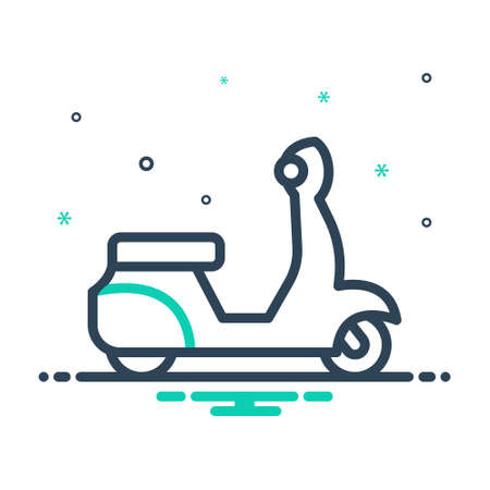 Icon for scooter,motorbikes