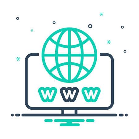 Icon for web,website Ilustração