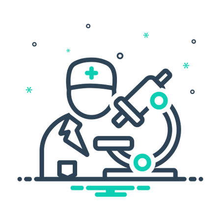 Icon for pathologist ,biochemist Ilustracja