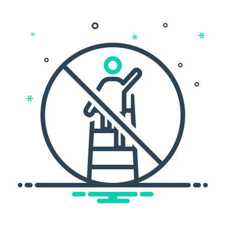 Icon for overreach, restriction