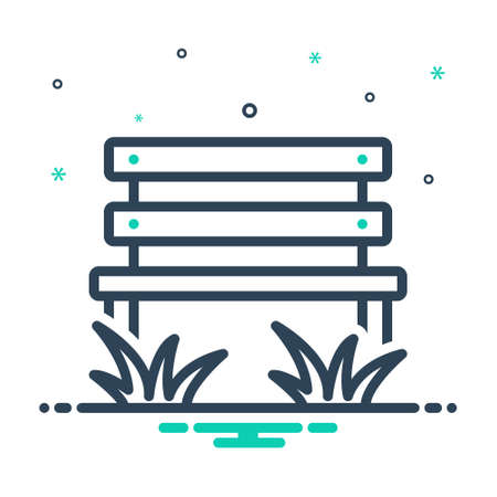 Icon for parkbench ,park