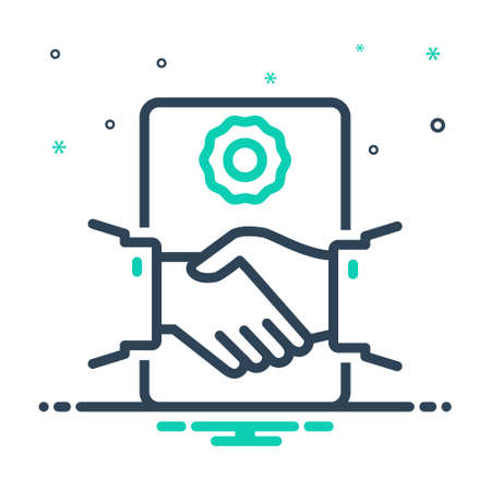 Icon for deal agreement, handshake