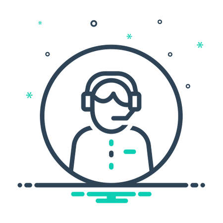 Icon for customer service, headset