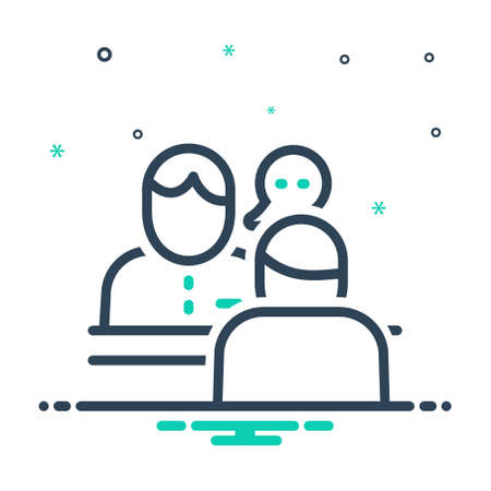 Icon for consulting, consultant Ilustracja