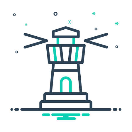Icon for lighthouse,architecture Ilustracja