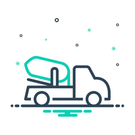 Icon for cement truck,construction Ilustracja