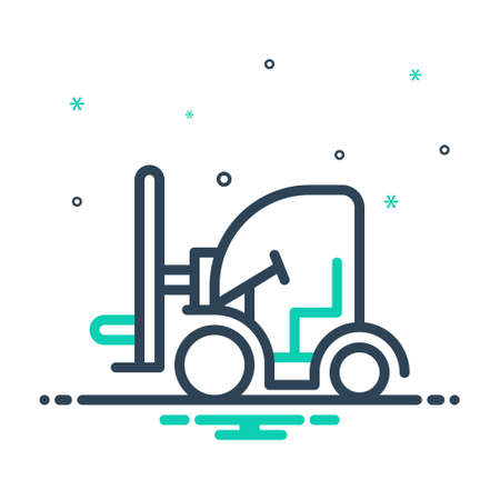 Icon for forklift,cargo