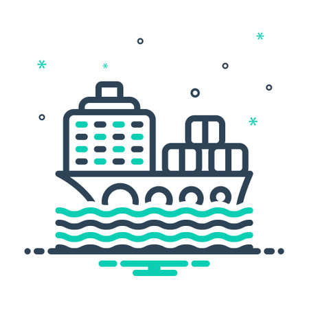 Icon for cargo ship,container Ilustracja