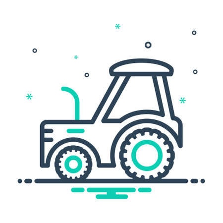 Icon for tractor,farm Ilustracja