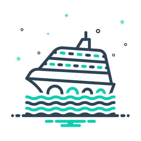 Icon for cruise,ship