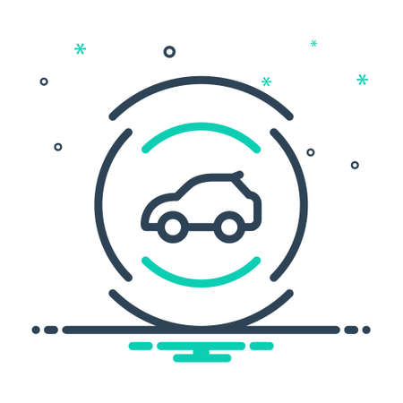 Icon for car sensor,autonomous Ilustracja