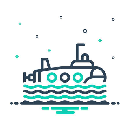 Icon for submarine,wave