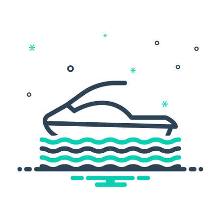 Icon for hydrocycle,water