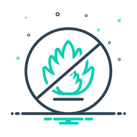 Icon for pictogram,flame