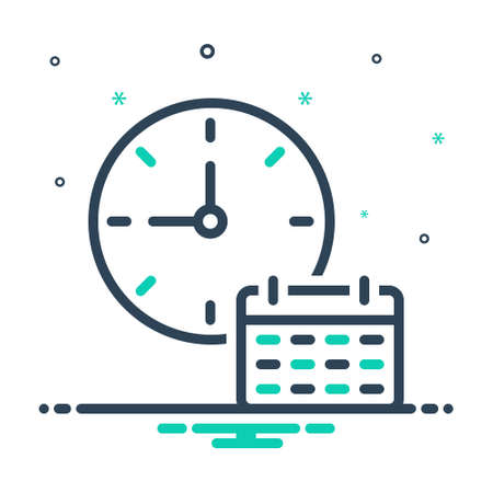 Icon for time table, dials ,clock 向量圖像