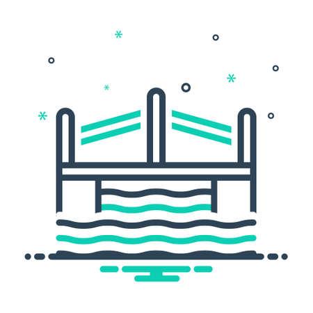 Icon for bridge,viaduct Ilustração