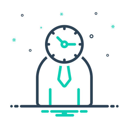 Icon for time management,management