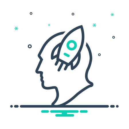 Icon for  imagination,imaginative Ilustração
