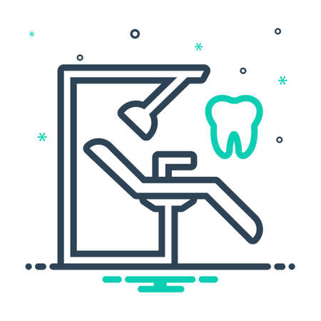Icon for dentist chair,orthodontics