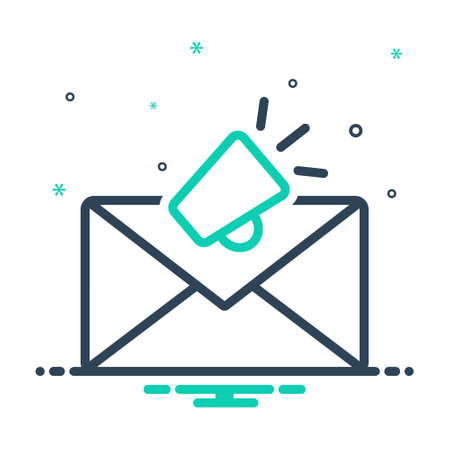 Icon for email marketing, envelope