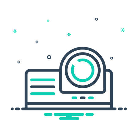 Icon for projector,video,film Stock Illustratie
