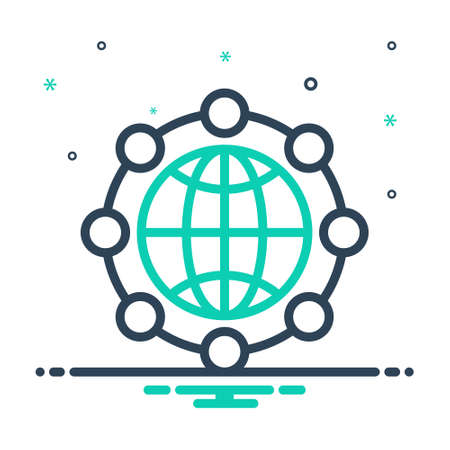 Icon for global network,global,network Stock Illustratie