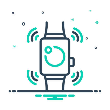 Icon for smartwatch,wearable Stock Illustratie