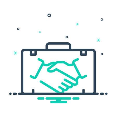 Icon for partner,briefcase Ilustração