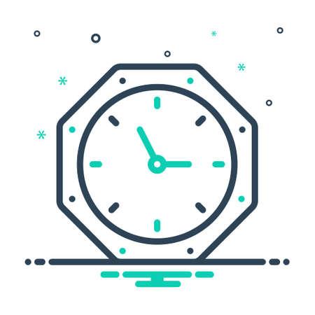 Icon for timing,clock,adjust Illusztráció