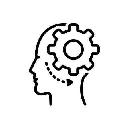 Icon for brain process,brain,process  イラスト・ベクター素材