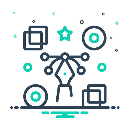 Icon for graphic,concrete