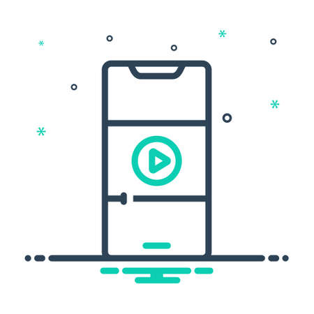 Icon for video on mobile phone,video,mobile