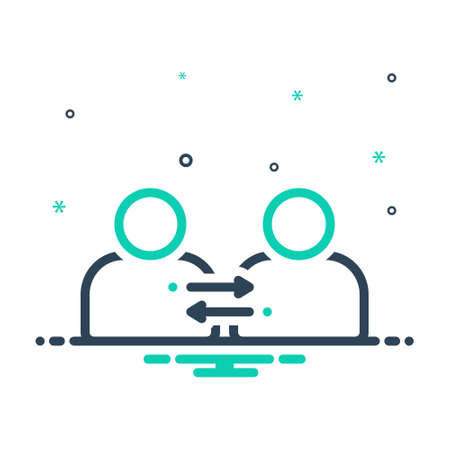 Icon for partnership,participated