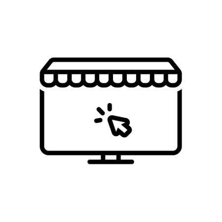 Icon for online shopping,online Çizim
