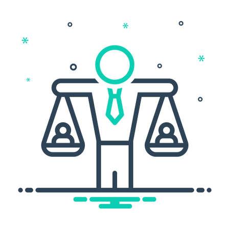 Icon for human balanced scale ,equivalence