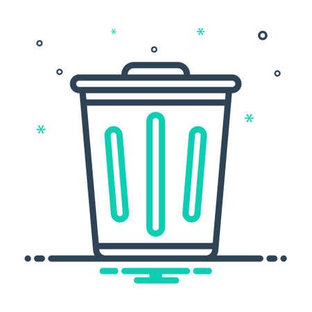 Icon for trash,debris,rubbish