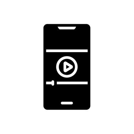 Icon for video on mobile phone,video,mobile Vetores