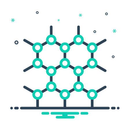 Icon for graphene technology,graphene
