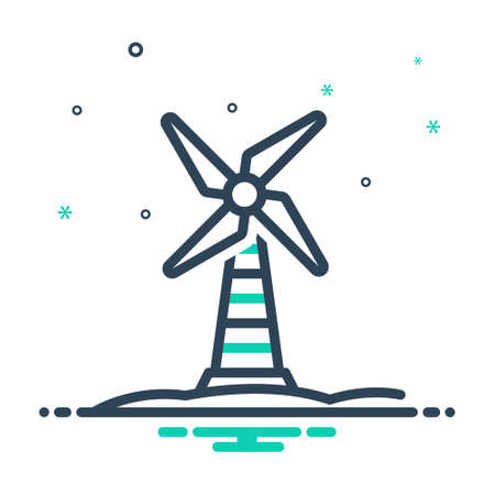 Icon for windmill,propeller