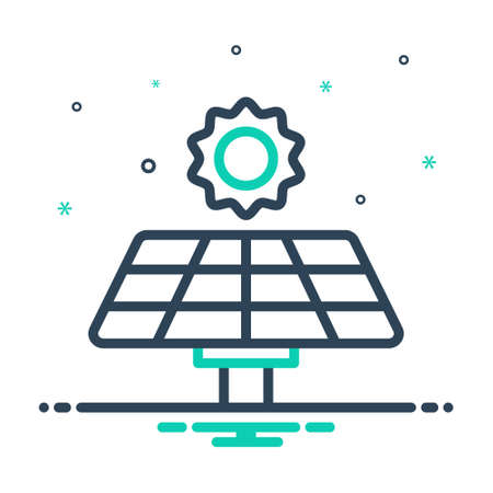 Icon for solar panel,electricity