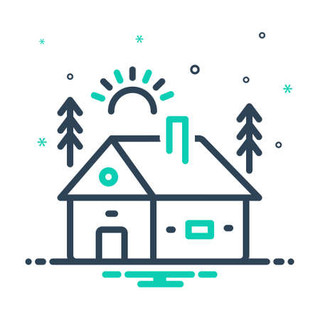 Icon for cabin,cottage