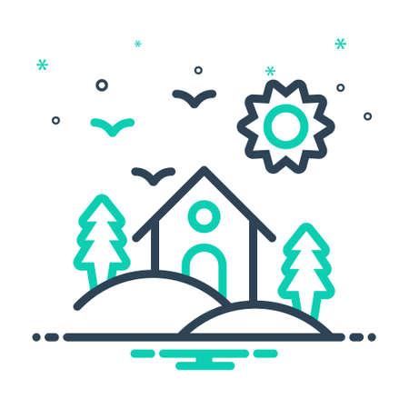 Icon for habitat,dwelling,abode 向量圖像