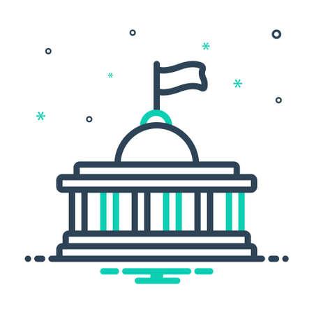 Icon for nation,democracy Vettoriali