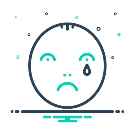 Icon for sad,nostalgic 矢量图像