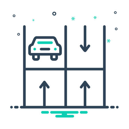 Icon for parking,haunt