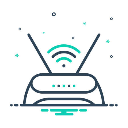 Icon for router,antenna 矢量图像