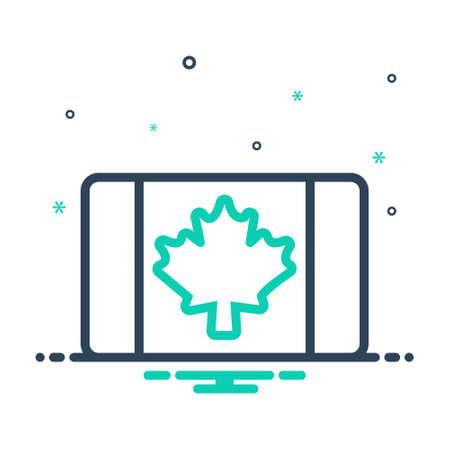 Icon for canadian,leaf 向量圖像