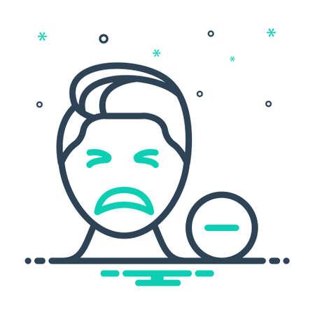 Icon for negative,denial Ilustrace
