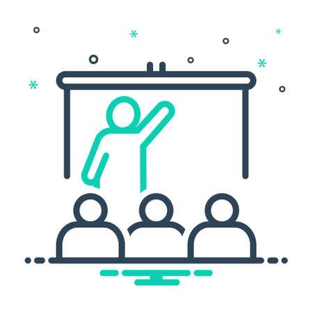 Icon for teach,educate 向量圖像